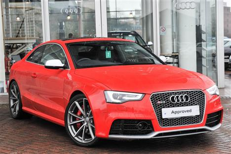 audi rs5 with nice alloys