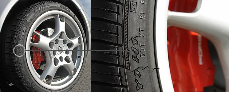 porsche n rated part worn tyres